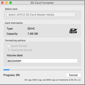 sd card formatter mac format sd card for raspberry pi
