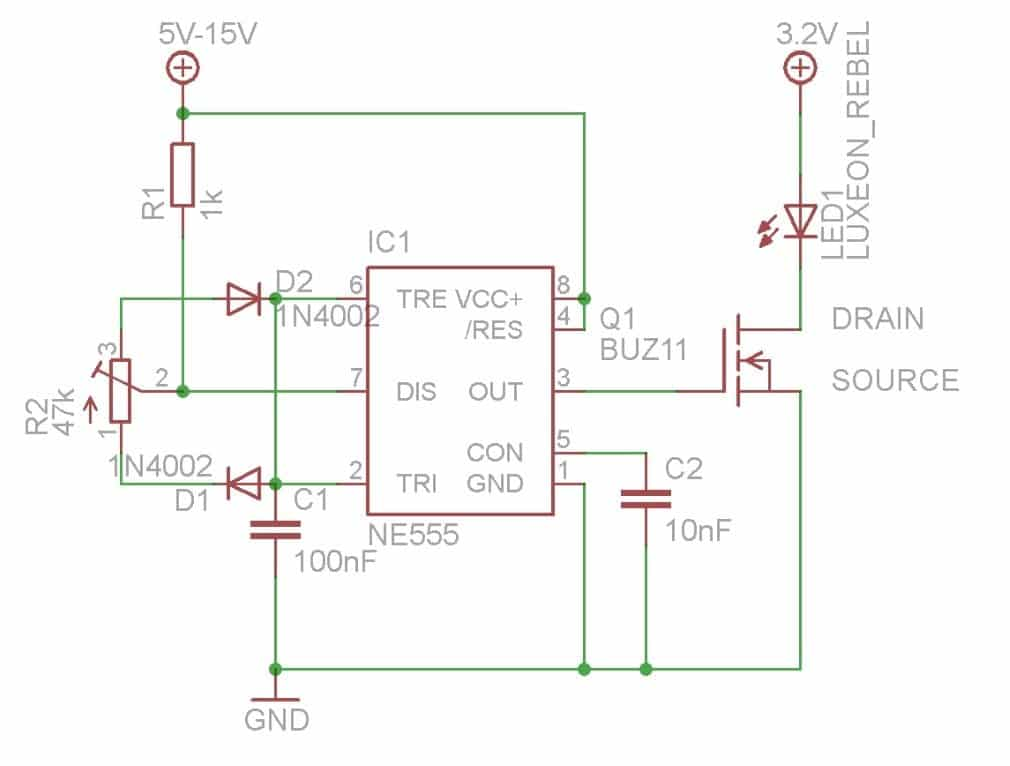 pwm with 555 timer IC