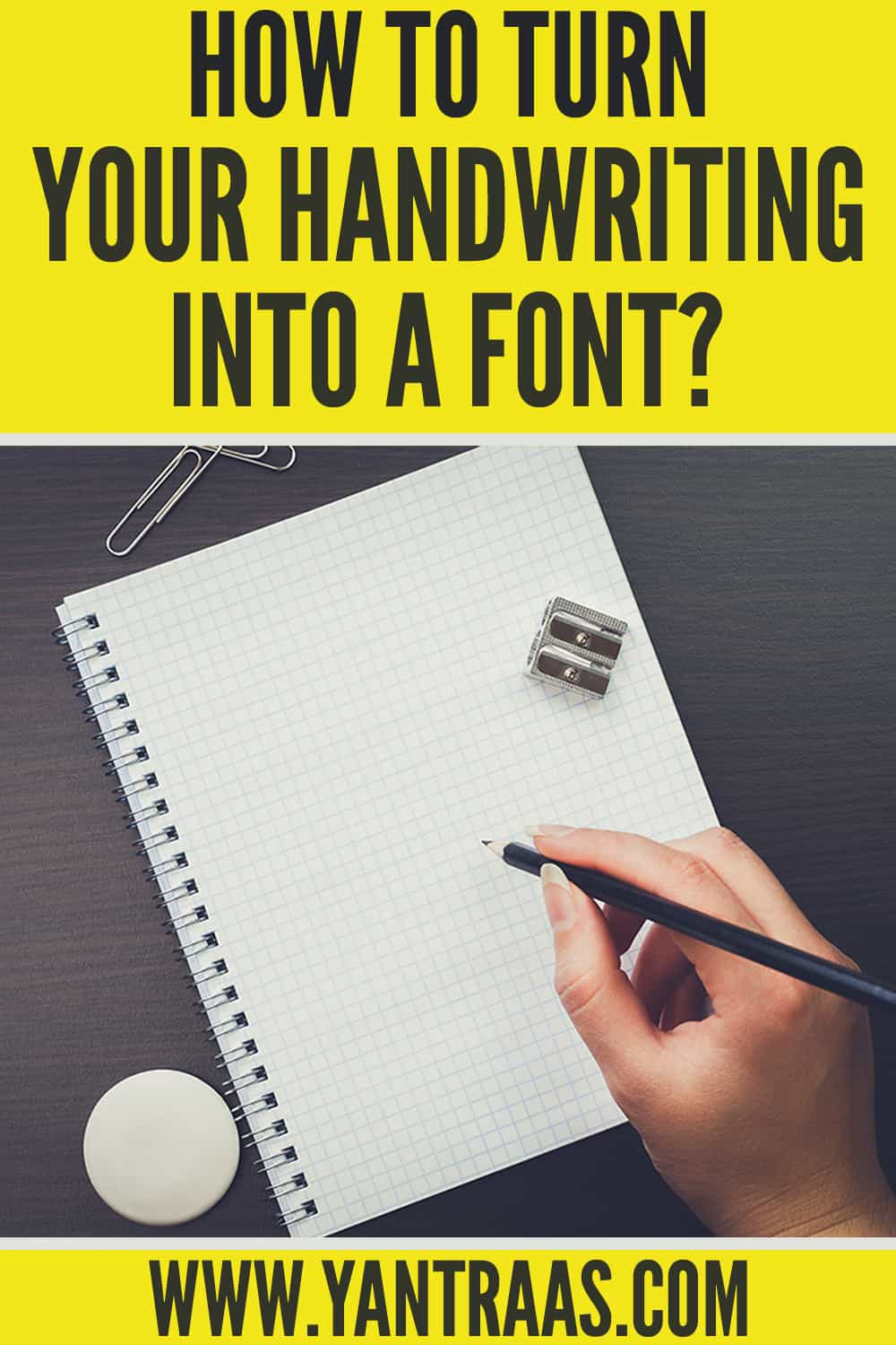 turn handwriting into font